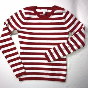 LOFT Crewneck Striped Sweater Size XS